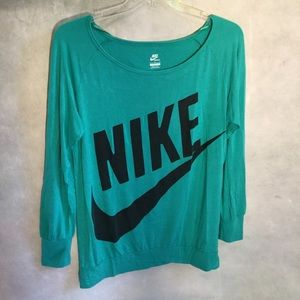 3/$20 Teal NIKE Long sleeve C15